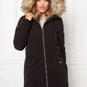 VILA Jala Down Coat Black