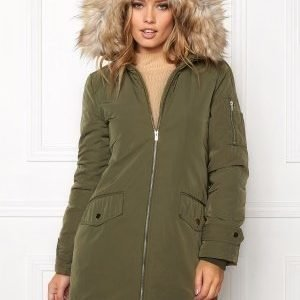 VILA Jala Down Coat Ivy Green