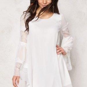 VILA Jilla L/S Short Dress Snow White