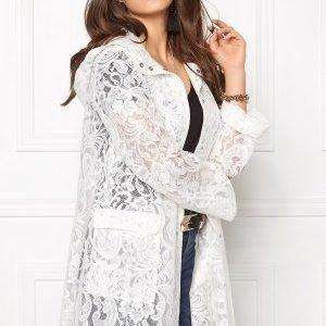 VILA Laces Rain Coat Snow White