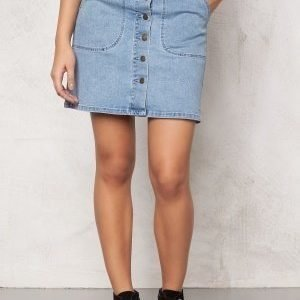 VILA Lagos Denim Skirt Light Blue Denim