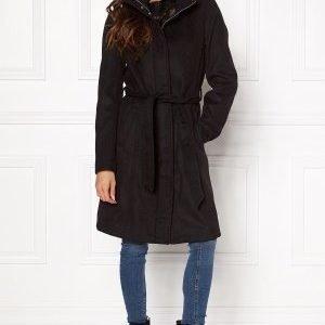 VILA Leam Coat Black