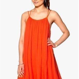 VILA Liz Strap Dress Hot Coral