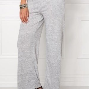 VILA Lune Wide Knit Pant Light Grey Mel.