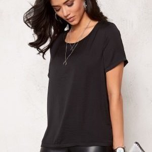 VILA Melli s/s New Top Black
