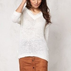 VILA Pray Knit Top Snow White