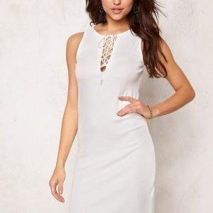 VILA Ran S/L Detail Dress Snow White