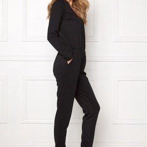 VILA Resti L/S Jumpsuit Black