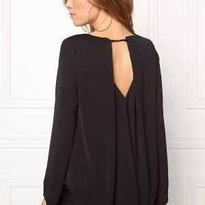 VILA Samina L/S Top Black