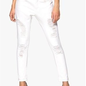 VILA Sax 7/8 Boyfriend Jeans Optical Snow
