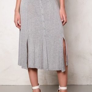 VILA Semra long skirt Light Grey Melange