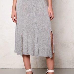VILA Semra long skirt Light Grey Melange