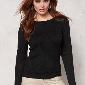 VILA Share knit top Black