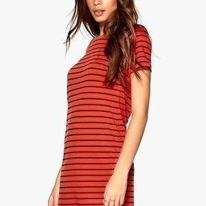VILA Tinny S/S Dress Mandarin Red/Total E