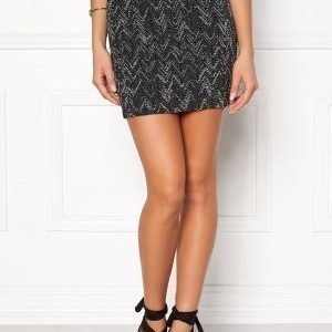 VILA Vala New Zigzag Skirt Black