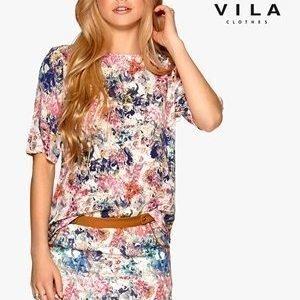 VILA Valentine Short Skirt Gardenia