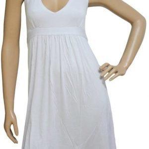 Valkoinen halterneck-mekko