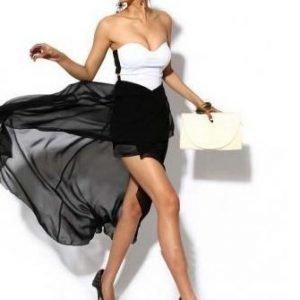 Valkomusta mekko