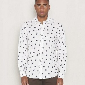 Velour by Nostalgi Standard Random Dot Offwhite / Dark Grey