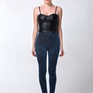 Velvet leggings Darkblue