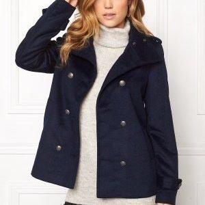 Vero Moda Abelle Rich Wool Jacket Navy Blazer