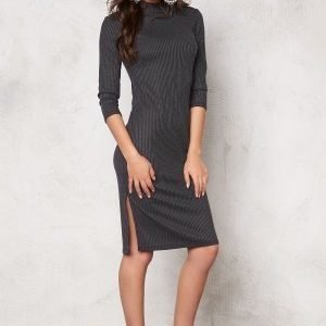 Vero Moda Alin hi-neck 3/4 dress Black