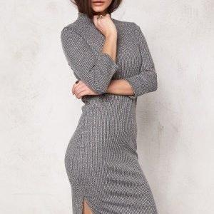 Vero Moda Alin hi-neck 3/4 dress Medium Grey Melange