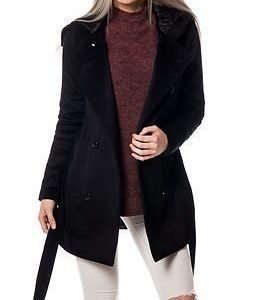 Vero Moda Belva Rich 3/4 Wool Jacket Black