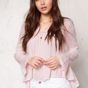 Vero Moda Bisla l/s top Snow White/Pink