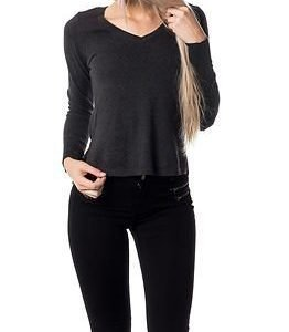 Vero Moda Care Structure V-Neck Blouse Dark Grey Melange