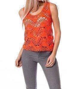 Vero Moda Chantal Tank Top Fiery Coral
