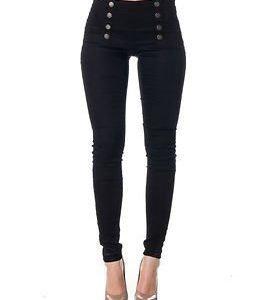 Vero Moda Charlie Slim Button Pant Black