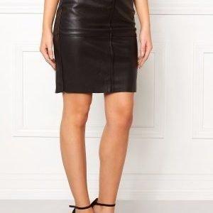 Vero Moda Clara Pu Skirt Black