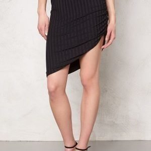 Vero Moda Karma high/low skirt Black