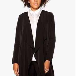 Vero Moda List Drape Blazer Black