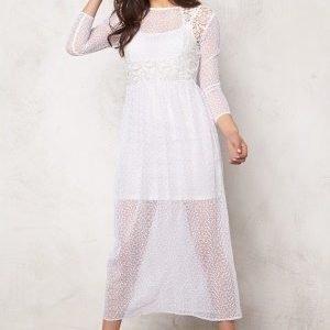 Vero Moda Sienna w/l ankle dress Snow White