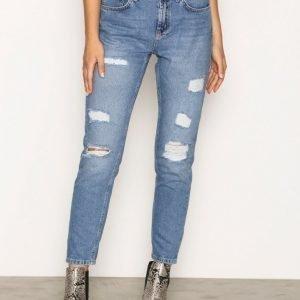 Vero Moda Vmashley Nw Cigarette Ankle Jeans Straight Farkut Sininen