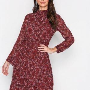 Vero Moda Vmcamille L / S Blk Dress Fd17 Pitkähihainen Mekko Tummanpunainen