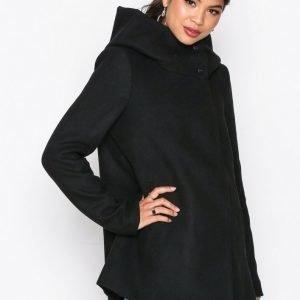 Vero Moda Vmcollar Wool Jacket Noos Pitkä Takki Musta