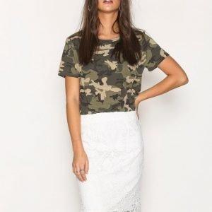 Vero Moda Vmflora Hw Lace Skirt Minihame Valkoinen