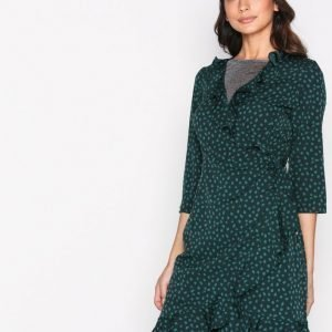 Vero Moda Vmhenna Dot 3 / 4 Wrap Abk Dress Exp Loose Fit Mekko Tummanturkoosi