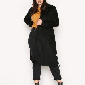 Vero Moda Vmjess Rich Long Wool Jacket Boos Pitkä Takki Musta