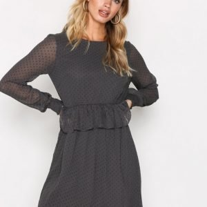 Vero Moda Vmkim L / S Short Dress O17 Loose Fit Mekko Tummanharmaa