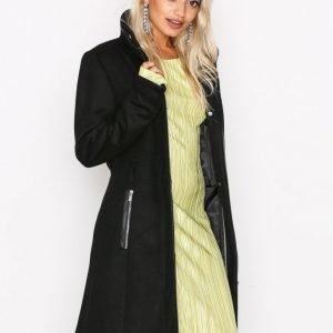 Vero Moda Vmprato Rich 3 / 4 Wool Jacket Noos Pitkä Takki Musta