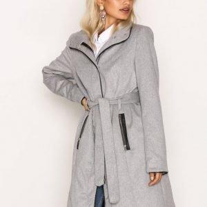 Vero Moda Vmprato Rich 3 / 4 Wool Jacket Noos Pitkä Takki Vaaleanharmaa
