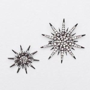 Vero Moda Vmstar Glitter Brooch 2-Pakkaus Rintamerkki Harmaa