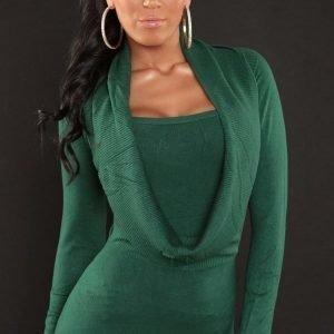Vihreä 2in1 neulemekko