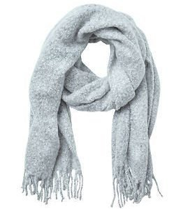 Vila Agnes Scarf Light Grey Melange