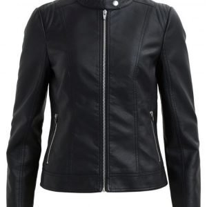 Vila Aya Faux Leather Jacket Pu-Takki