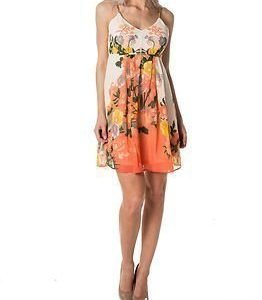 Vila Botanical Crawl Printed Dress Snow White
